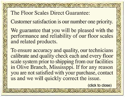 floor scales direct guarantee