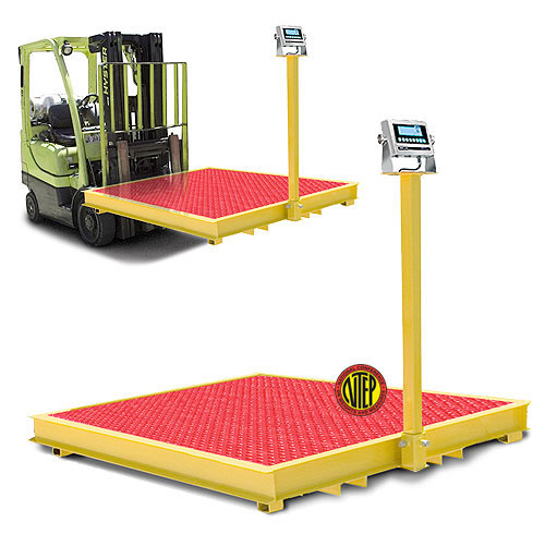 5 x 5 10 000 lb forklift portable floor scale package c for 10000 lb floor scale